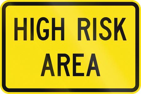 An Australian warning traffic sign - High risk area Zdjęcie Seryjne