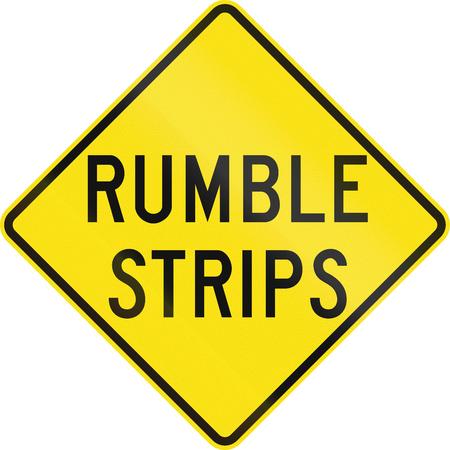 audible: An Australian warning traffic sign - Rumble strips