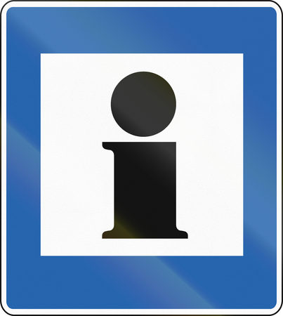 information point: An Icelandic traffic sign - Information point