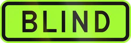 lurid: An Australian warning traffic sign - Blind people, green version