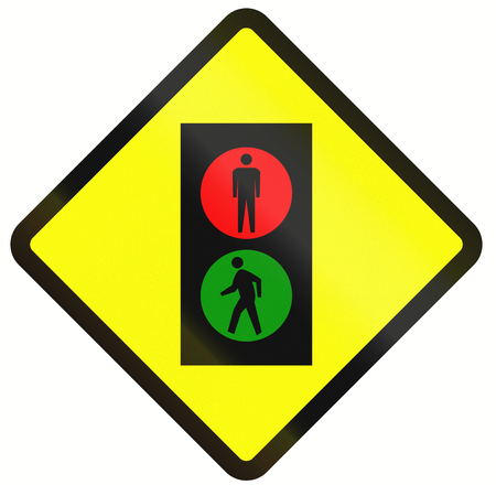 dont walk: Indonesian road warning sign: pedestrian traffic signals