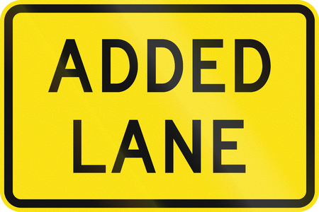 are added: An Australian warning traffic sign - Added lane