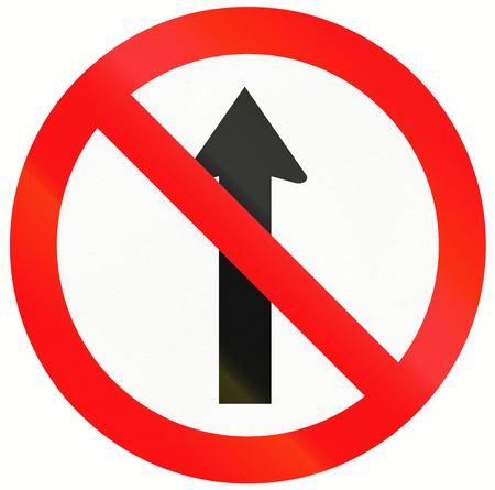 red handed: Indonesia traffic sign - No straight through