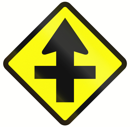 priority: Indonesian traffic sign - Intersection with priority