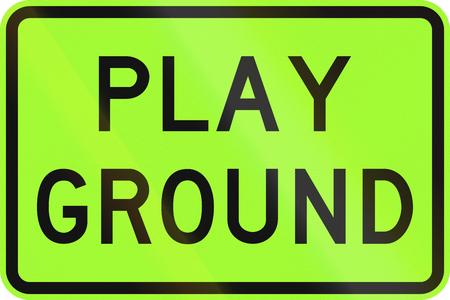 lurid: An Australian warning traffic sign - Playground, green version