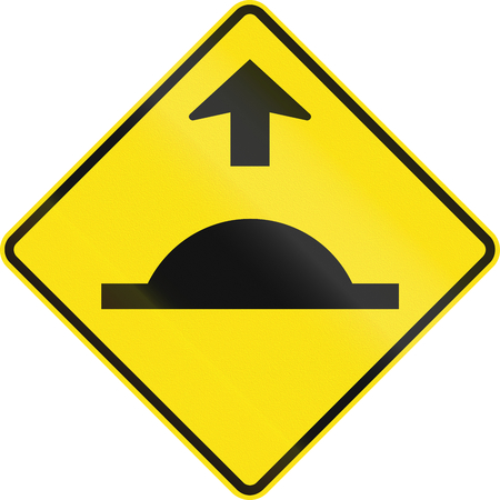 bump: Warning road sign in Australia - Road bump