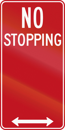 stopping: An Australian traffic sign - No Stopping