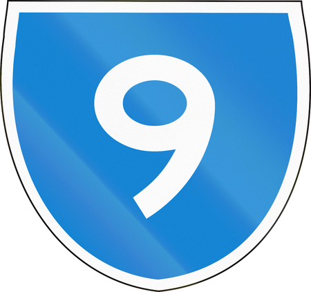 number 9: Australian state route shield - with number 9