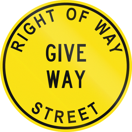 give the way: A historic Australian road sign - Give way
