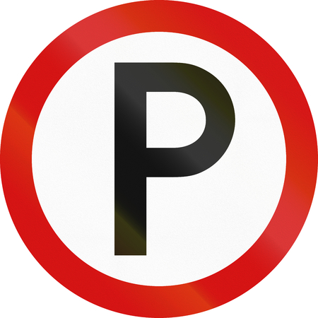 permitted: Irish traffic sign - Marked parking permitted