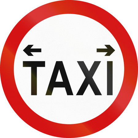 right handed: An official Taxi Rank sign in Ireland.