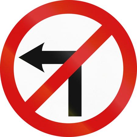 아일랜드 규제 기호 - 아니 좌회전. 스톡 콘텐츠