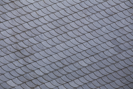 image created 21st century: Slate roof tiles with a diagonal arrangement. Stock Photo