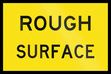 rough road: An Australian temporary road sign - Rough Surface