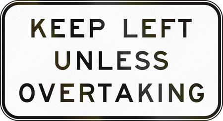 overtaking: Australian regulatory sign - End keep left unless overtaking