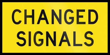 changed: An Australian temporary road sign - Changed signals