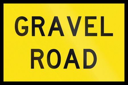 temporary: An Australian temporary road sign - Gravel Road