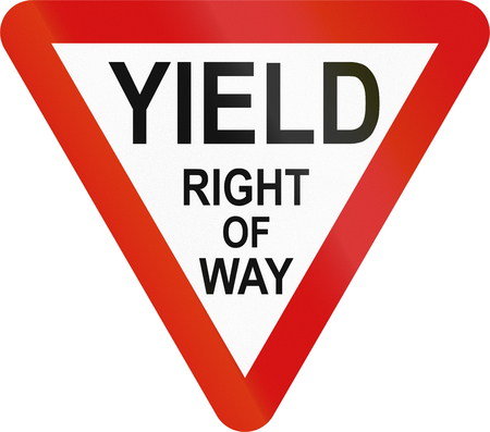 Irish traffic sign: Yield sign - Extended version in English