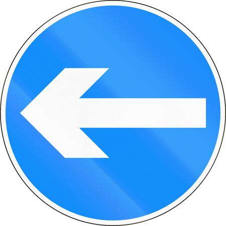 turn left: Traffico segno del Bangladesh - Girare a sinistra Archivio Fotografico