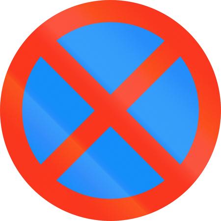 stopping: Road sign In Bangladesh - No stopping