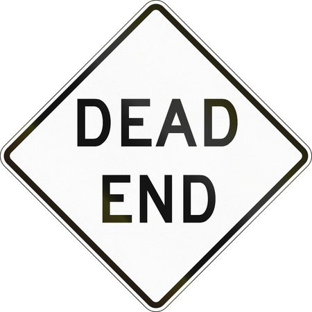 A traffic sign in Australia - Dead End Stock Photo