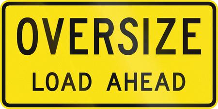 퀸즐랜드에서 사용되는 호주의 추가 임시 도로 표지판 - 앞서 특대로드 스톡 콘텐츠