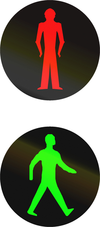 dont walk: The official Pedestrian Signals used in Bangladesh Stock Photo