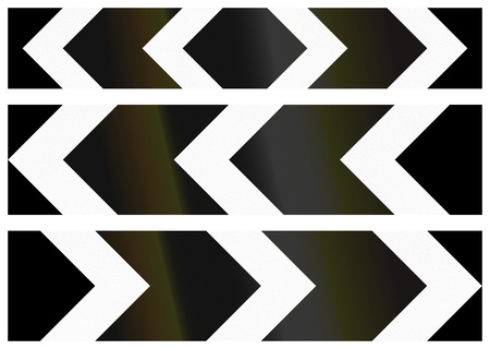 alignments: Collection of Bangladeshi chevron alignments pointing to the left and right and both sides