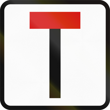 dead end: A Road sign In Ireland - Dead end