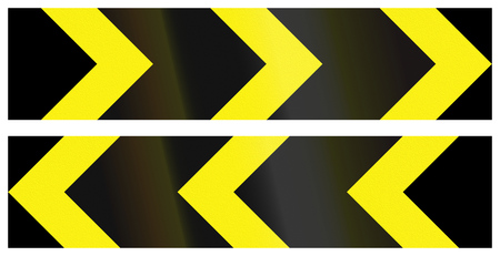 alignments: Collection of Bangladeshi chevron alignments pointing to the left and right. Stock Photo