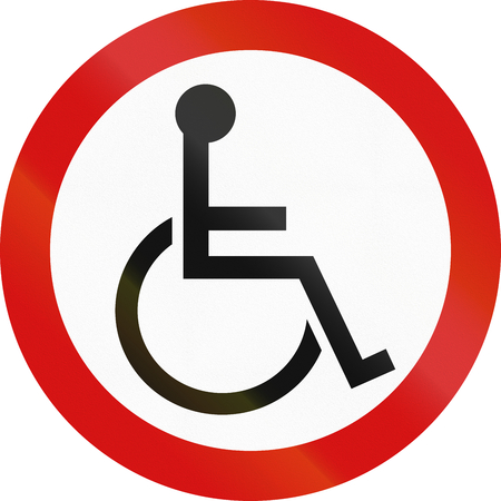 disabled parking sign: Road sign for disabled parking in Ireland - Red version