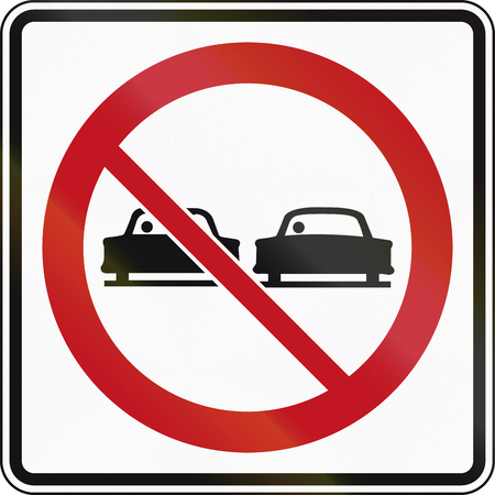 Canadian traffic sign - No overtaking! This sign is used in Ontario.