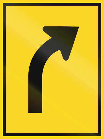north arrow: Lane overview sign in Canada - single right turn lane. This sign is used in Ontario.