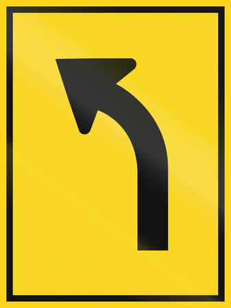 turn left sign: Lane overview sign in Canada - single left turn lane. This sign is used in Ontario.
