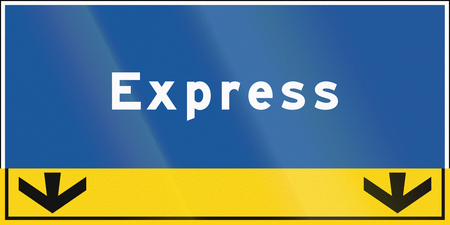 express lane: An express lane sign in Ontario, Canada.