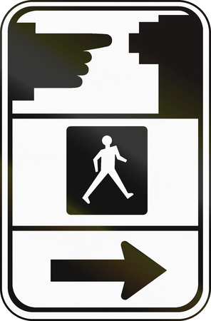 dont walk: Road sign in Canada, instructing pedestrians how to use the crosswalk signal. This sign is used in Ontario.