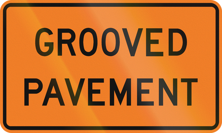 grooved: Roadworks sign in Canada - Grooved pavement. This sign is used in Ontario.