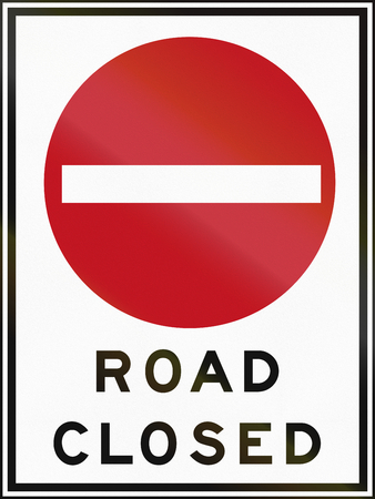 road closed: Road closed sign in Canada. This sign is used in Ontario. Stock Photo