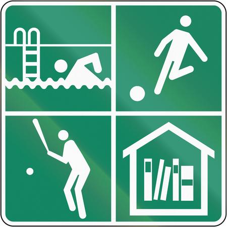 recreational: Guide sign in Quebec, Canada - Recreational activities.