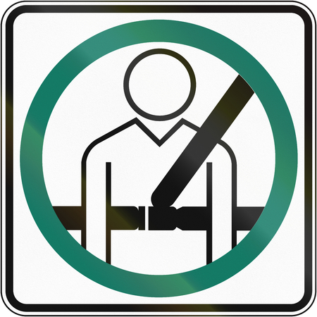 compulsory: Canadian traffic sign: Seatbelt usage compulsory. This sign is used in Quebec.