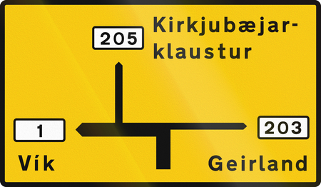 left handed: Destination Map Sign Outside Capital Area In Iceland Stock Photo