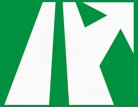 exit sign: A green Highway exit sign in Colombia. Stock Photo