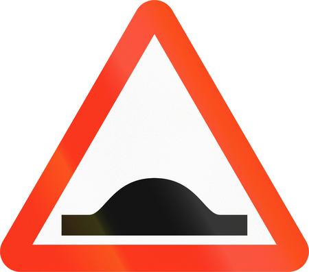 A Bangladeshi road sign indicating speed bumps.
