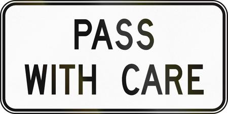 no pase: Se�al de tr�fico canadiense - Pase con cuidado. Este signo se utiliza en Ontario.