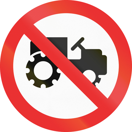 jalisco: No Tractors sign in the state of Jalisco (Mexico). Stock Photo