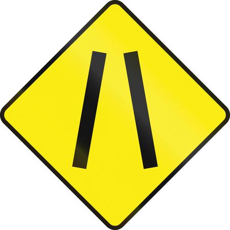 one lane roadsign: Historic Irish road warning sign: One lane roadnarrow road ahead Stock Photo