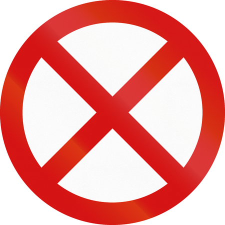 restriction: An official Ireland stopping restriction sign.
