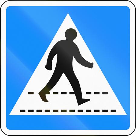 pedestrian crossing: Bangladeshi traffic sign: Pedestrian crossing (give way).