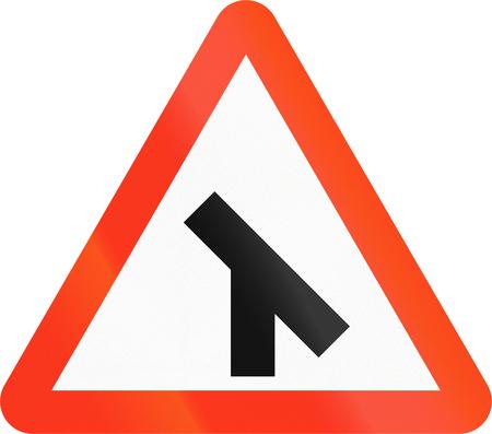 45: Bangladeshi danger warning sign: 45 degree intersection Stock Photo