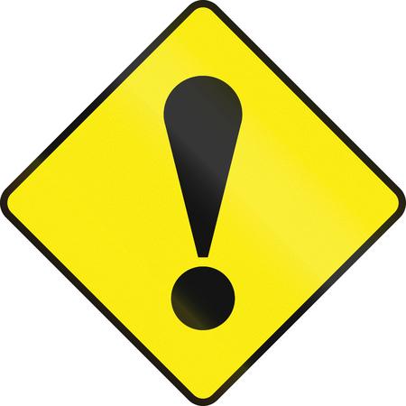 orthographic symbol: Irish road warning sign - General danger